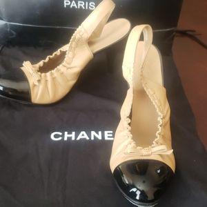 Chanel sling backs size 37.5